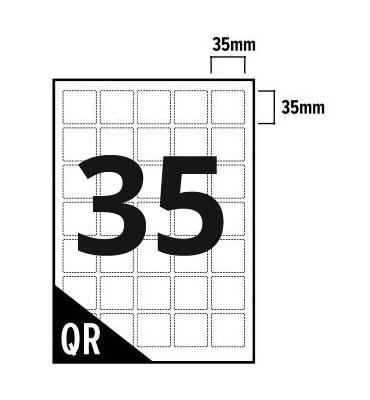 35 Per Sheet A4 Labels - Square Corners - 2