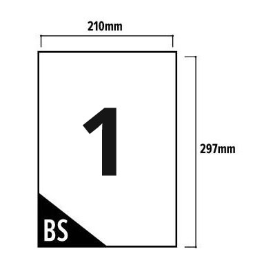 1 Per Sheet A4 Labels - Easy Peel - Square Corners - 2