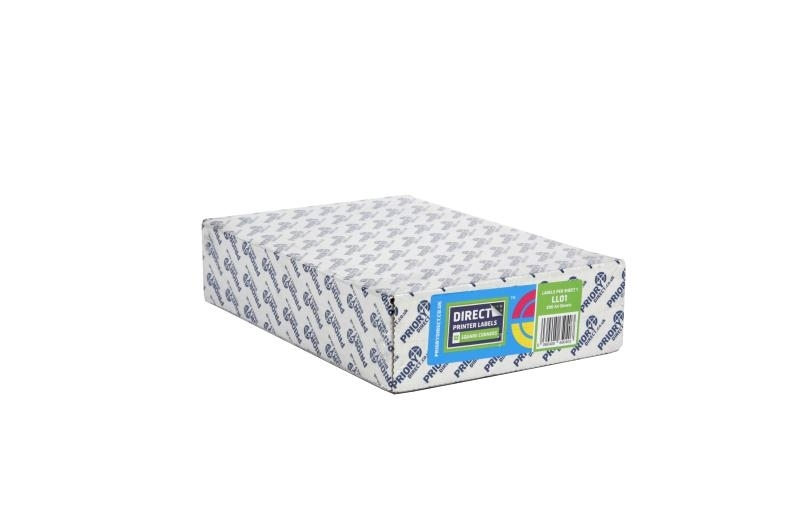 1 Per Sheet A4 Labels - Easy Peel - Square Corners - 4
