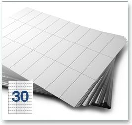 30 Per Sheet A4 Labels - Square Corners - 4