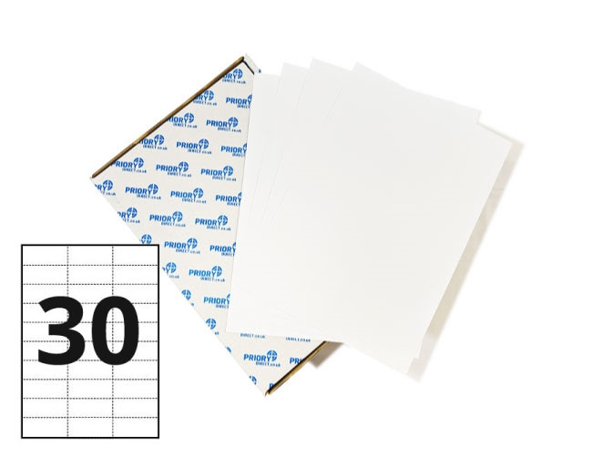 30 Per Sheet A4 Labels - Square Corners