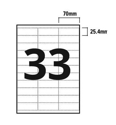 33 Per Sheet A4 Labels - Square Corners - 3