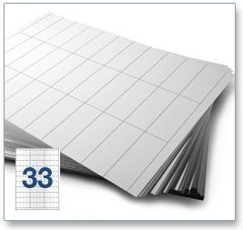 33 Per Sheet A4 Labels - Square Corners - 4
