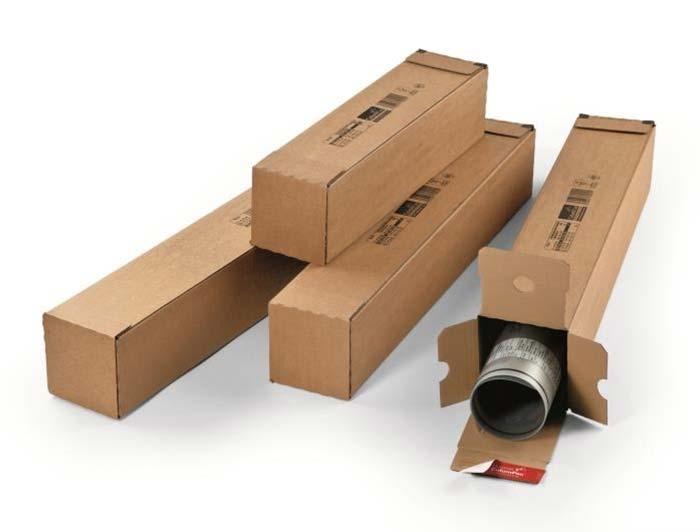 705 x 108 x 108mm ColomPac Square Postal Tubes - 3