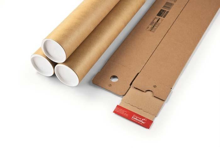 705 x 108 x 108mm ColomPac Square Postal Tubes - 5