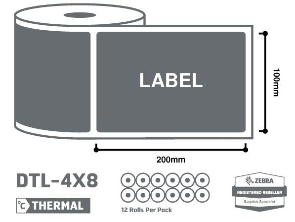 4 x 8 Zebra Thermal Labels