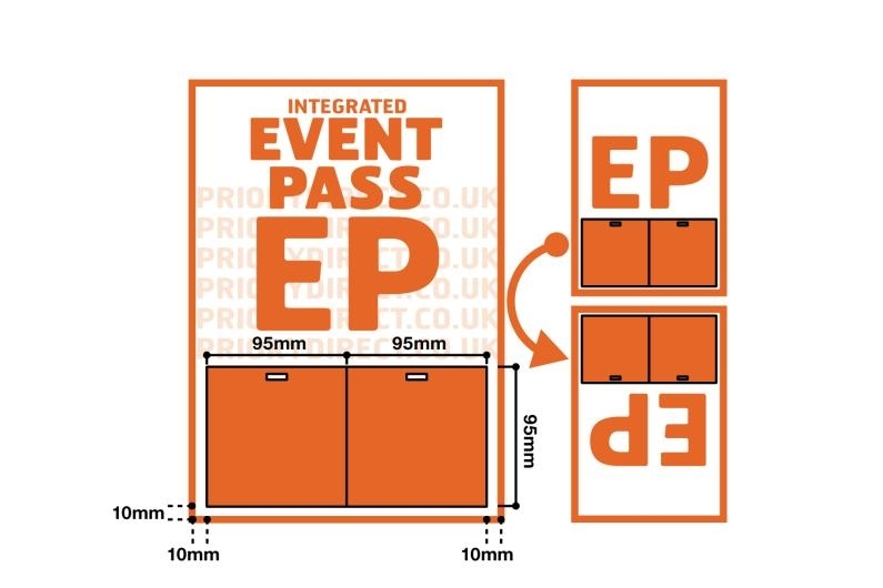 A4 Sheet with Integrated Event Pass