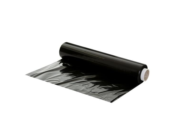 500mm x 200m x 25mu Standard Core Pallet Wrap - Black