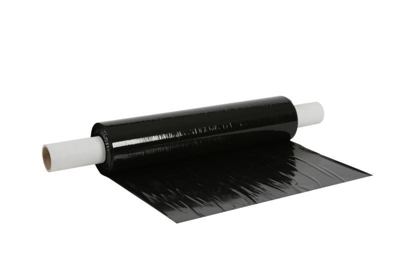 500mm x 200m x 25mu Extended Core Pallet Wrap - Black - 3