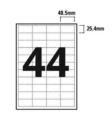 44 Per Sheet A4 Labels - Square Corners - 3