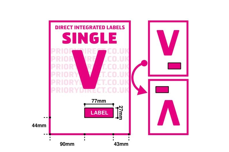 Single Integrated Label - Style V