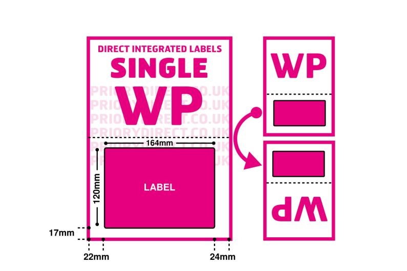 Royal Mail Integrated Labels - Single Style WP With Perforation