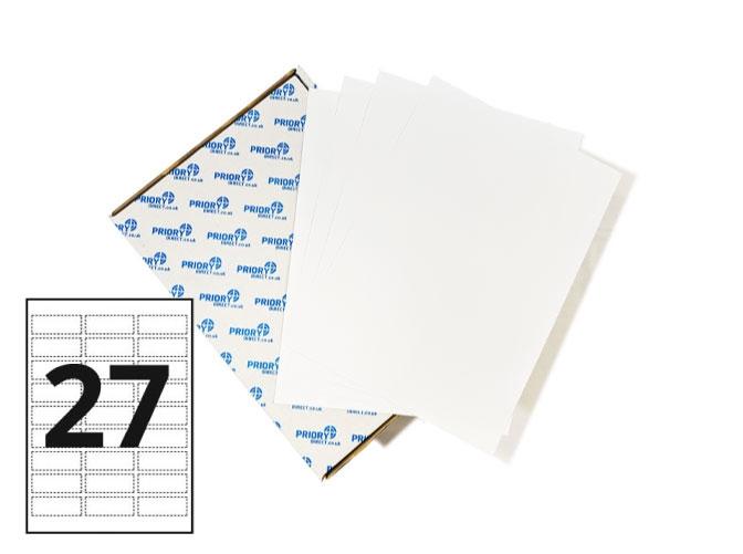 27 Per Sheet A4 Labels - Round Corners