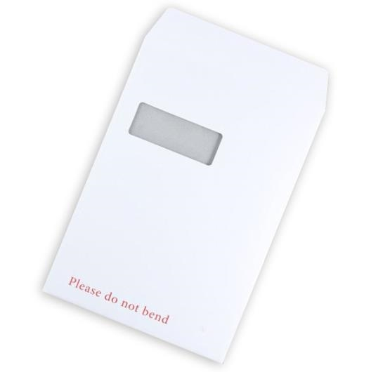 A4 Board Backed Envelopes With Window - White Printed