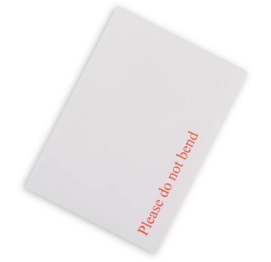 178 x 241mm Board Backed Envelopes - White Printed