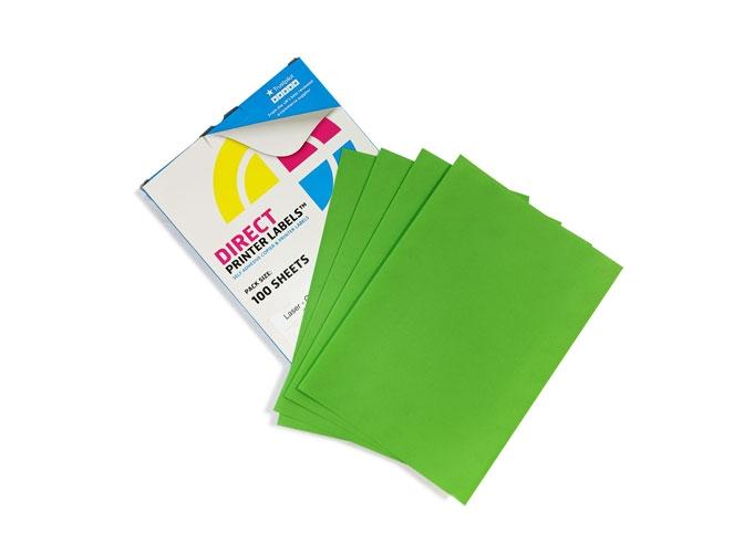 65 Per Sheet Pastel Green Labels  - 2