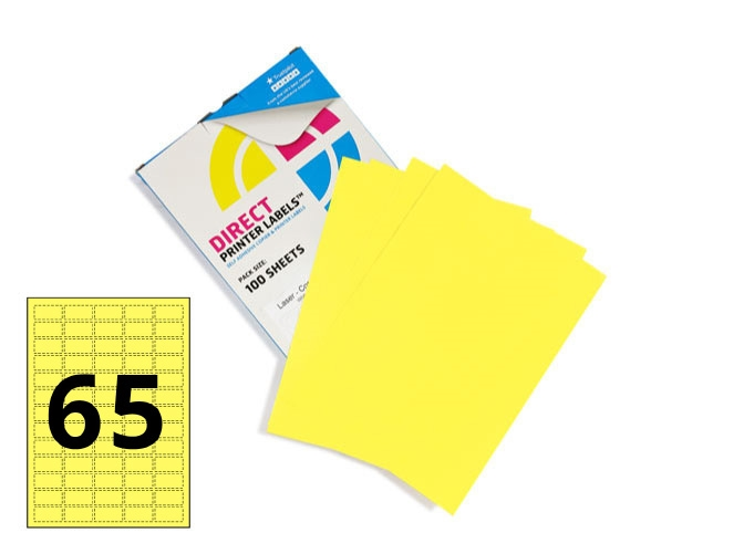 65 Per Sheet Pastel Yellow Labels