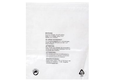 Clear Polypropylene Garment Bags - 250 x 300mm