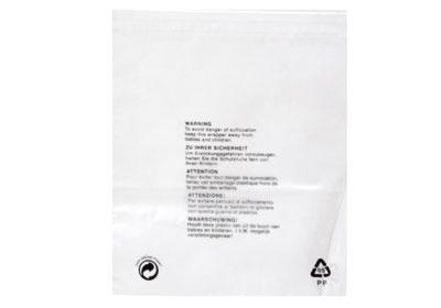 Clear Polypropylene Garment Bags - 300 x 375mm