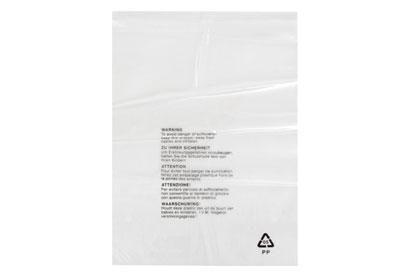 Clear Polypropylene Garment Bags - 350 x 425mm