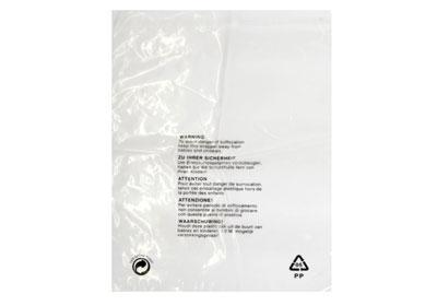 Clear Polypropylene Garment Bags - 375 x 500mm