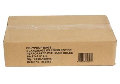Clear Polypropylene Garment Bags - 375 x 500mm - 2