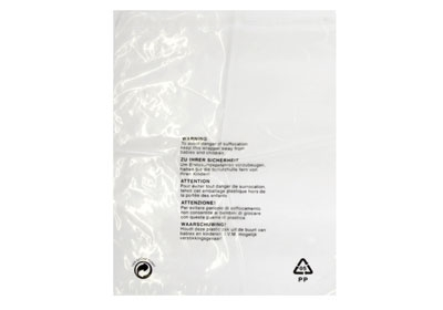 Clear Polypropylene Garment Bags - 450 x 550mm