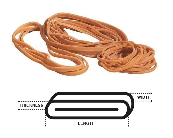 Rubber Bands No. 19 - 90 x 1.5mm - 2