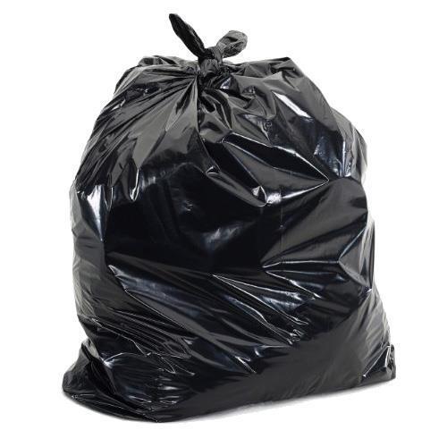 Black Recycled Refuse Sacks - 40mu - 450 x 800 x 980mm