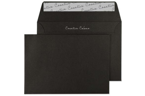 C6 Jet Black Envelope - Wallet - 120gsm