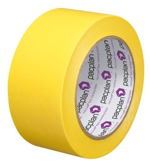 Yellow Floor Marking Tape - 50mm x 33m