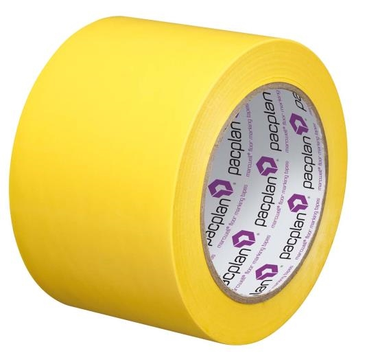 Yellow Floor Marking Tape - 75mm x 33m
