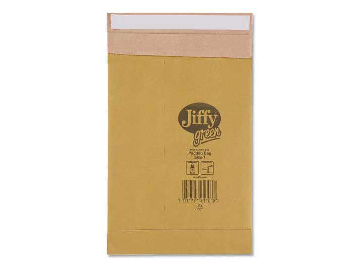 Size 00 Jiffy Green Padded Bags