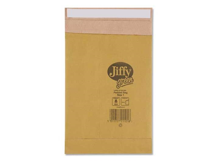 Size 1 Jiffy Green Padded Bags