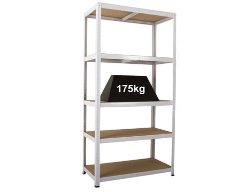 900 x 300 x 1770mm White Storage Shelving Unit - 2