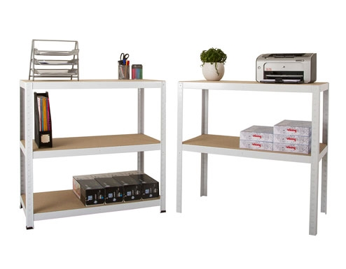 900 x 450 x 1770mm White Storage Shelving Unit