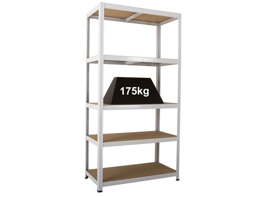 900 x 600 x 1770mm White Storage Shelving Unit
