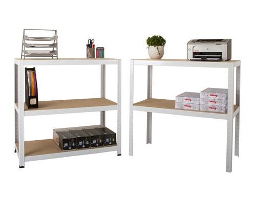 900 x 600 x 1770mm White Storage Shelving Unit - 2