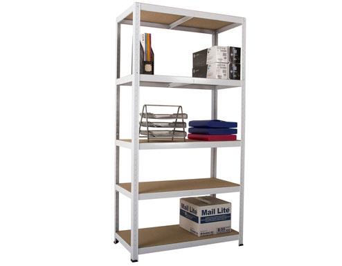900 x 600 x 1770mm White Storage Shelving Unit - 3