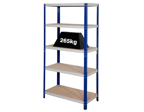 900 x 450 x 1770mm Blue & Grey Storage Shelving Unit - 2