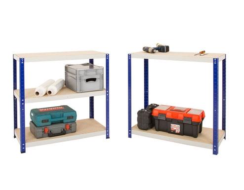 1200 x 450 x 1770mm Blue & Grey Storage Shelving Unit - 2
