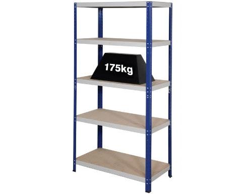 900 x 600 x 1770mm Blue & Grey Storage Shelving Unit