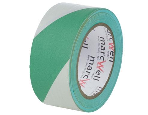 Floor Hazard Warning Tape - Green & White