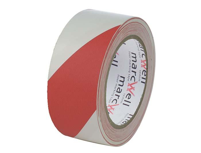 Floor Hazard Warning Tape - Red & White