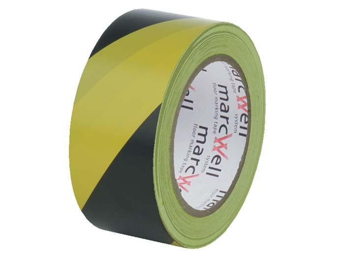 Floor Hazard Warning Tape - Yellow & Black
