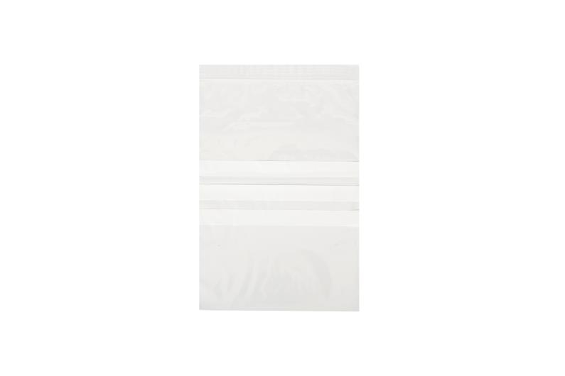 100 x 137mm Grip Seal Bags with Write On Panels