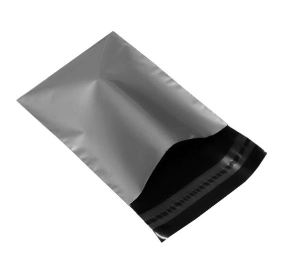250 x 350mm Metallic Silver Poly Mailers