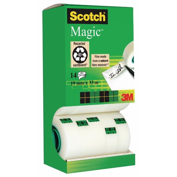 19mm x 33m Scotch Clear Magic Tape Tower