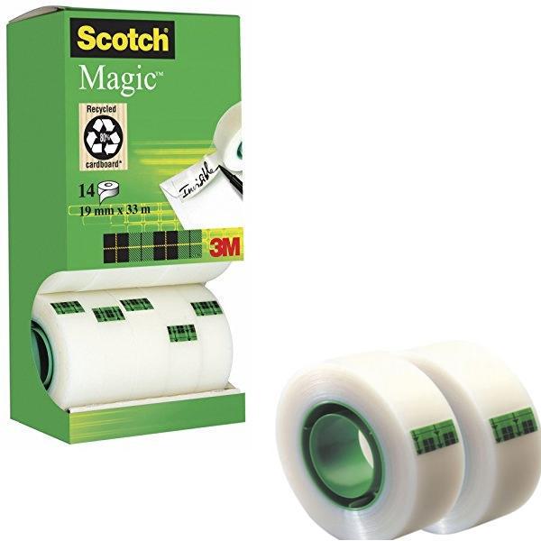19mm x 33m Scotch Clear Magic Tape Tower - 2