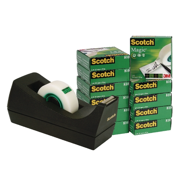 19mm x 33m Scotch Clear Magic Tape Tower With Dispenser